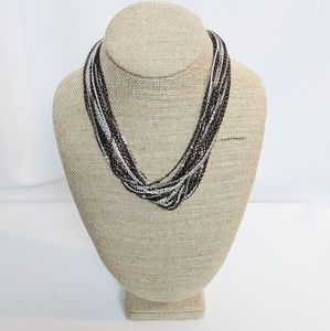 WHBM Multi Strand & Colored Chain Necklace